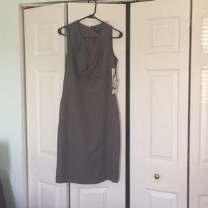Dark Grey Sharagano Short Sleeve Cowl Neck Dress.